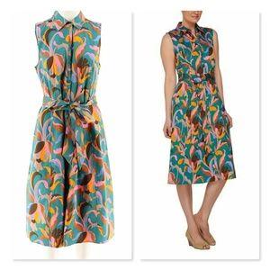 Isaac Mizrahi Live Deco Floral Belted Shirtdress